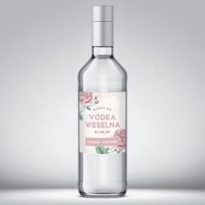 Etykieta na wódkę weselną wzór 1