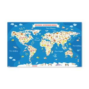 Mapa Świata - wzór 1