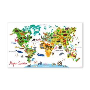 Mapa Świata - wzór 2