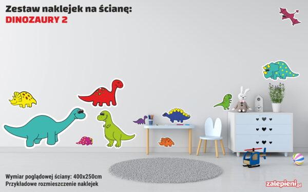 Naklejki XXL na ścianę Dinozaury 2 - poglądowe