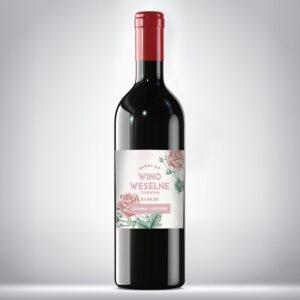 Wino weselne czerwone 01