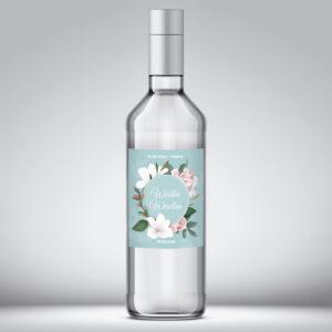 Etykieta na wódkę weselną wzór 2