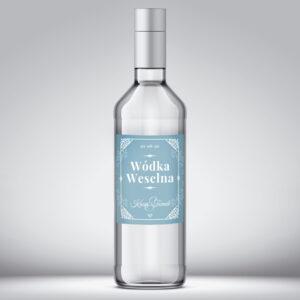 Etykieta na wódkę weselną wzór 5