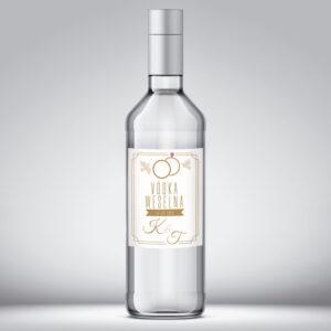 Etykieta na wódkę weselną wzór 10