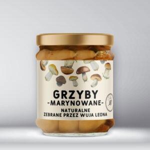 Etykieta na grzyby marynowane naturalne