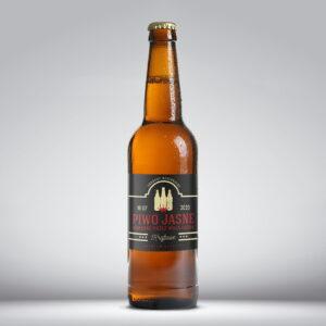 Etykieta na piwo jasne