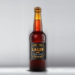 Etykieta na piwo lager