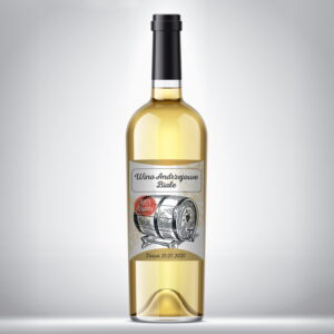 Etykieta na wino białe 02