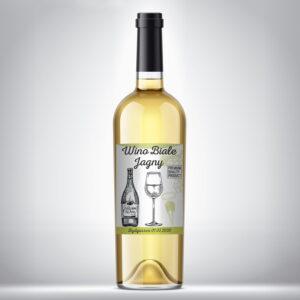 Etykieta na wino białe 03