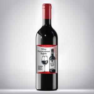 Etykieta na wino czerwone 01