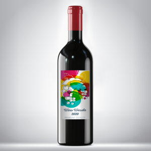 Etykieta na wino wesołe
