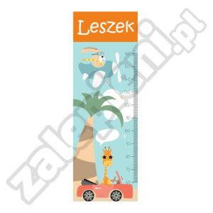 Naklejka miara wzrostu Leszek