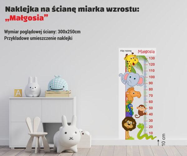 Naklejka miara wzrostu Małgosia - poglądowe