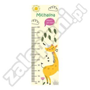 Naklejka miara wzrostu MIchalina