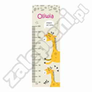 Naklejka miara wzrostu Oliwia