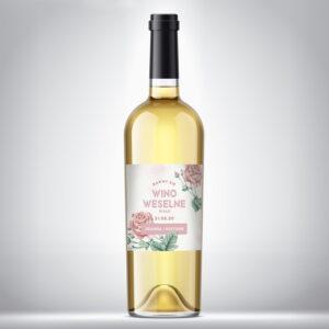 Wino weselne białe 01