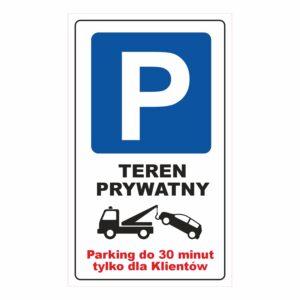 Parking teren prywatny 30 minut 60x100 cm