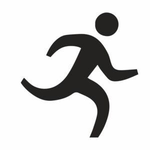 naklejka biegacz 1