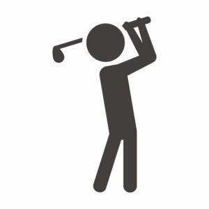 naklejka golf 1