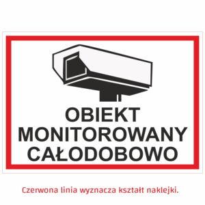 Obiekt monitorowany tabliczka naklejka