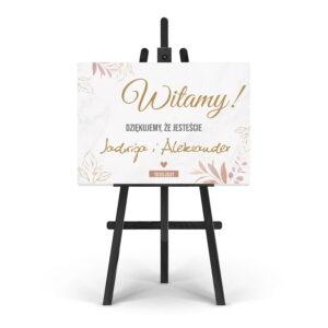 Tablica ślubna witająca wzór 11