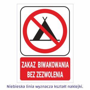 zakaz biwakowania bez zezwolenia