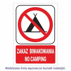 zakaz biwakowania - no camping 1