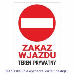 zakaz wjazdu teren prywatny