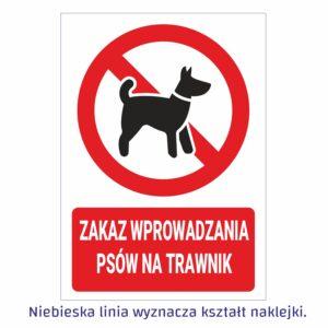 zakaz wprowadzania psów na trawniki