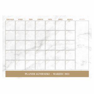 Planer miesięczny A3 - 03