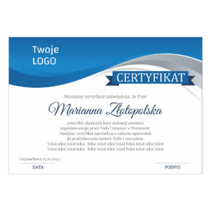 Certyfikat ukończenie kursu