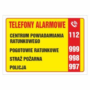 telefony alarmowe wzór 2