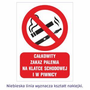 całkowity zakaz palenia na klatce schodowej i w piwnicy