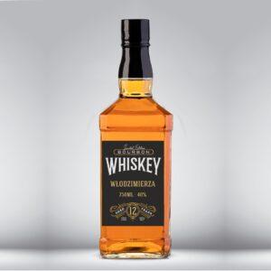 etykieta na bourbon czarna
