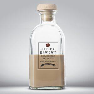 Etykieta na likier kawowy