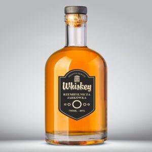 Etykieta na whisky czarne tło