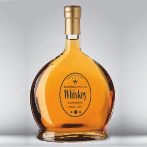 etykieta na whisky owalna przezroczysta