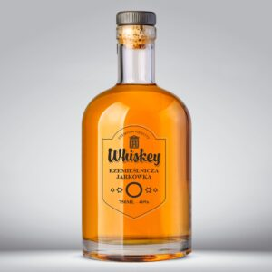 Etykieta przezroczysta na whisky