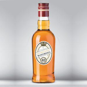Etykieta urodzinowa na whiskey