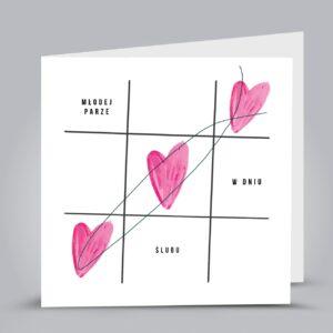kartka z rysowanymi sercami