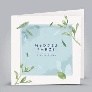 kartka z zielonymi gałązkami