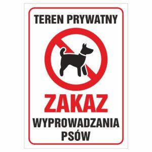 Teren prywatny zakaz wyprowadzania psów