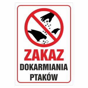 Zakaz dokarmiania ptaków